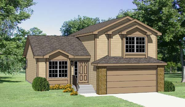 Contemporary Country House Plan 94419 Elevation