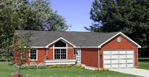 Ranch House Plan 94422 Elevation