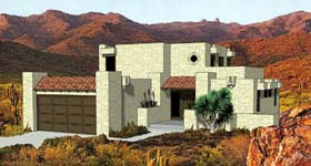 house plan 94423 - Southwestern Adobe Style House Plans