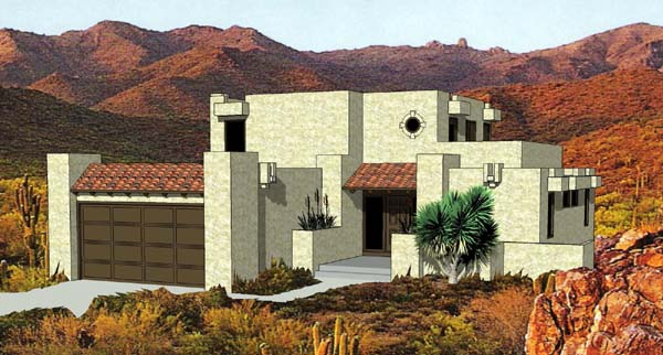 House plan 94423 at for Santa fe style house plans