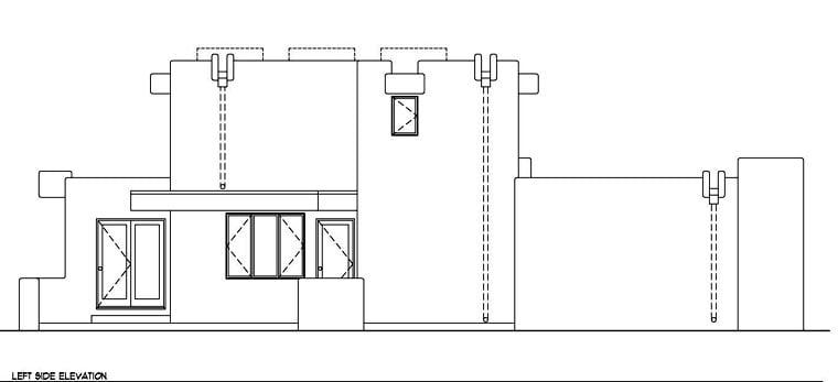 Santa Fe, Southwest House Plan 94423 with 3 Beds, 3 Baths, 2 Car Garage Picture 1