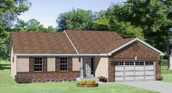 Ranch House Plan 94434 Elevation