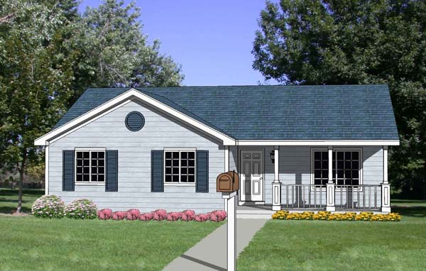 Ranch House Plan 94435 Elevation