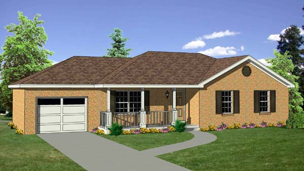 Ranch House Plan 94442 Elevation