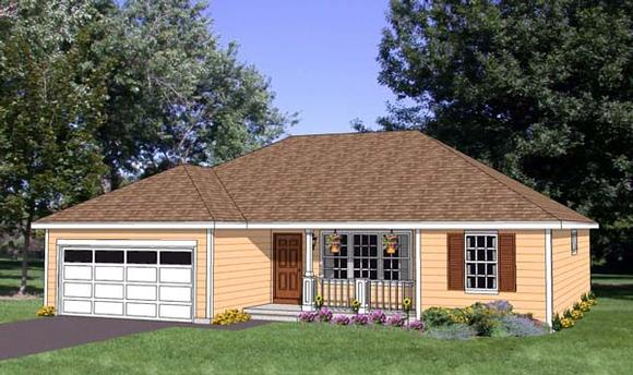 Ranch House Plan 94446 with 3 Beds, 2 Baths, 2 Car Garage Elevation