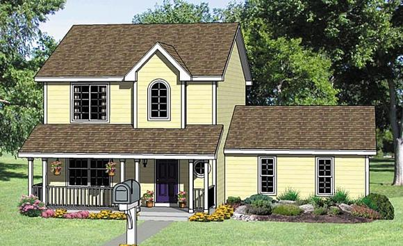 Country, One-Story House Plan 94452 with 3 Beds, 3 Baths, 2 Car Garage Elevation