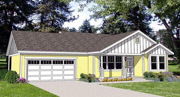 Ranch House Plan 94462 Elevation
