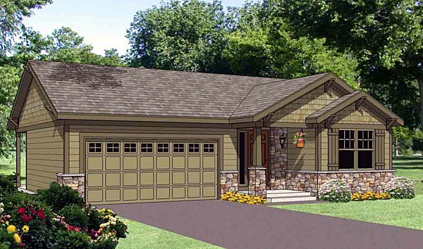 Traditional House Plan 94466 Elevation
