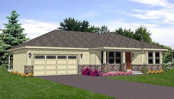 Southwest House Plan 94470 Elevation