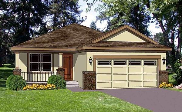Southwest House Plan 94473 Elevation