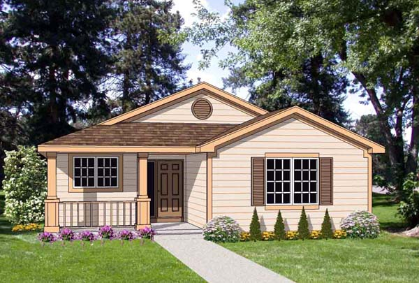 Country House Plan 94487 Elevation