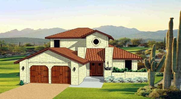 Southwest House Plan 94491 Elevation