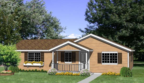House Plan 94494 Elevation