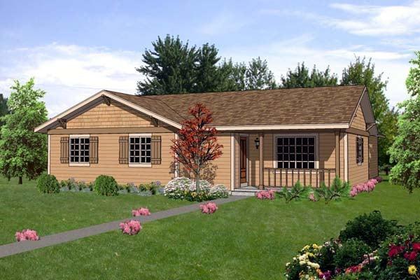 House Plan 94496 Elevation