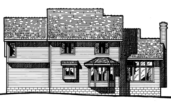 Country House Plan 94902 Rear Elevation