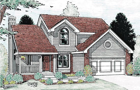 Country House Plan 94909 Elevation