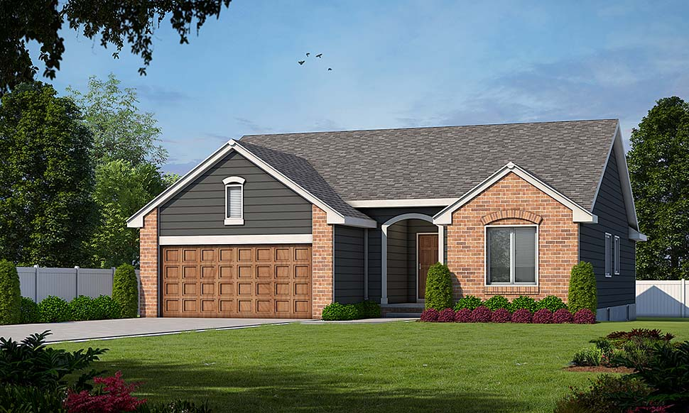 Ranch House Plan 94916 Elevation