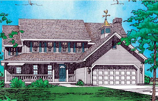 Country Farmhouse House Plan 94931 Elevation