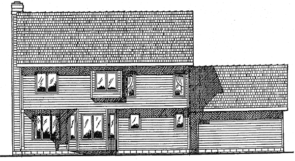 Colonial Country Southern House Plan 94944 Rear Elevation