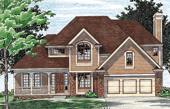 Colonial European House Plan 94947 Elevation
