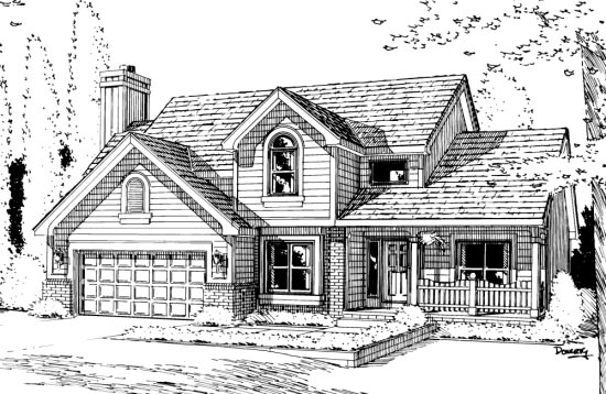 Country House Plan 94956 Elevation