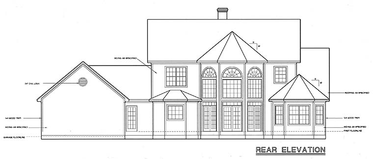 Country European House Plan 94965 Rear Elevation