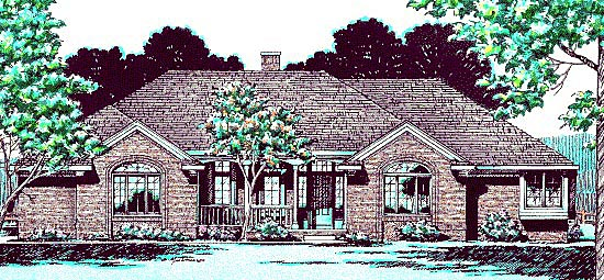 Traditional House Plan 94967 Elevation