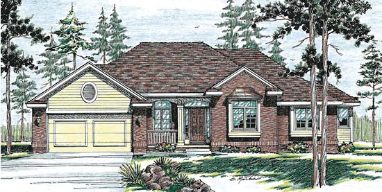 European House Plan 94969 Elevation