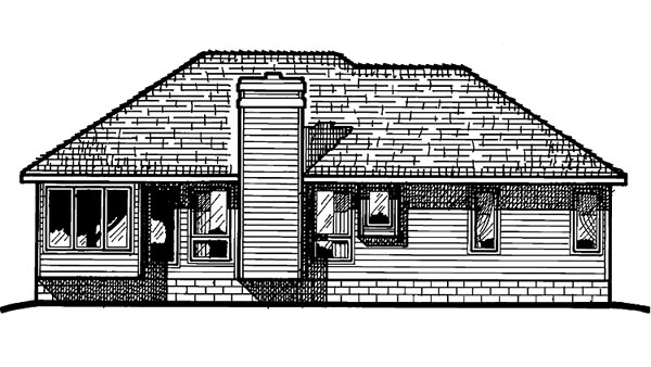 Ranch House Plan 94974 Rear Elevation