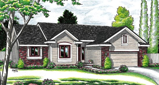 Ranch House Plan 94981 Elevation