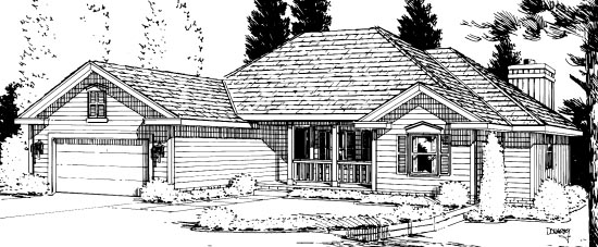 Traditional House Plan 94983 Elevation