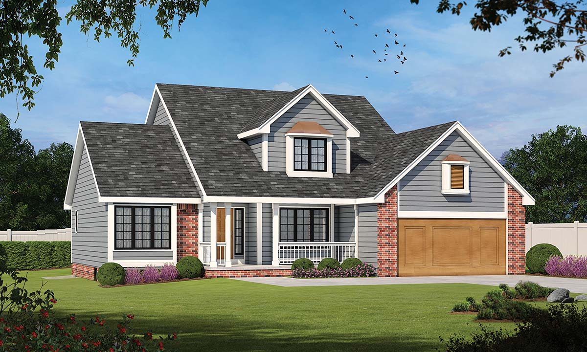 Country Farmhouse Traditional House Plan 94989 Elevation