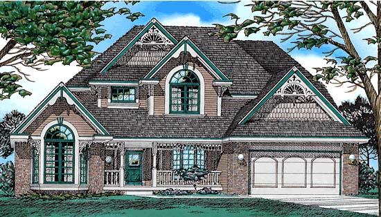 European Victorian House Plan 94992 Elevation