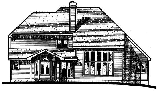 European Victorian House Plan 94992 Rear Elevation