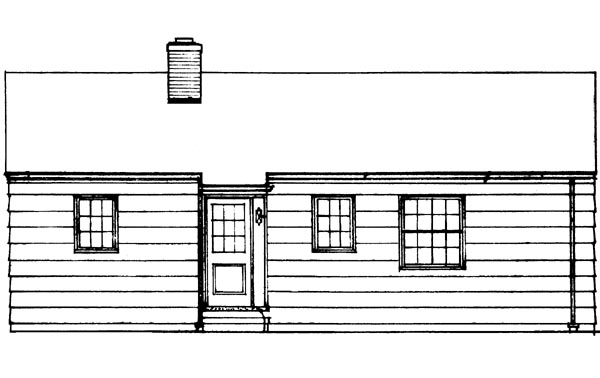 Colonial Ranch Retro House Plan 95000 Rear Elevation