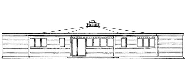Contemporary House Plan 95001 Rear Elevation