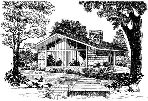 Contemporary Retro House Plan 95009 Elevation
