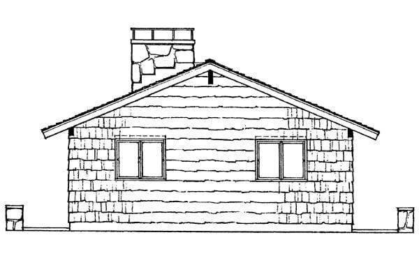 Contemporary Retro House Plan 95009 Rear Elevation