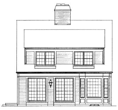 Cape Cod House Plan 95015 Rear Elevation