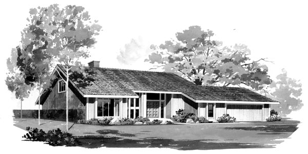 Contemporary House Plan 95017 Elevation