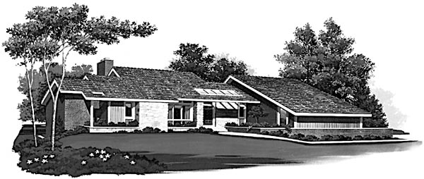 Contemporary House Plan 95025 Elevation