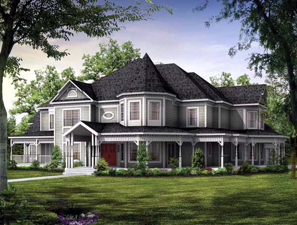 Elevation of Victorian   House Plan 95027
