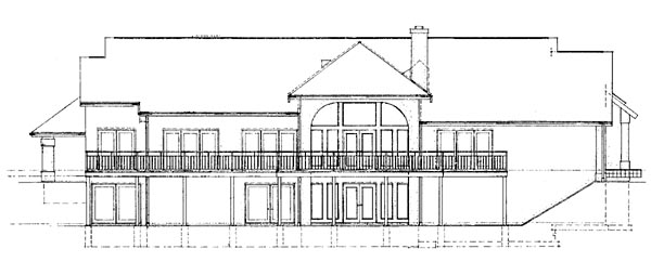 Traditional House Plan 95034 Rear Elevation