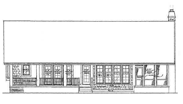 Traditional House Plan 95036 Rear Elevation