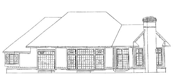 Traditional House Plan 95041 Rear Elevation