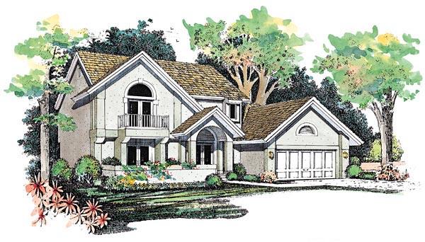Mediterranean House Plan 95060 Elevation