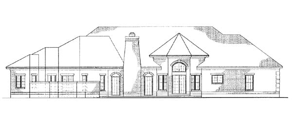 Colonial House Plan 95065 Rear Elevation