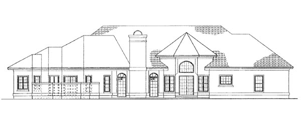 Colonial House Plan 95069 Rear Elevation