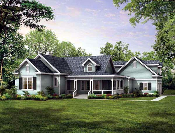 Country House Plan 95073 Elevation