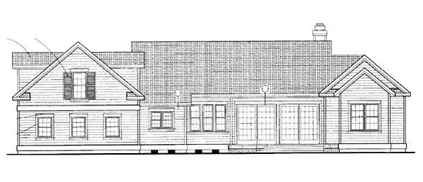 Country House Plan 95073 Rear Elevation